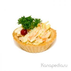Тарталетка с салатом «Кол слоу»