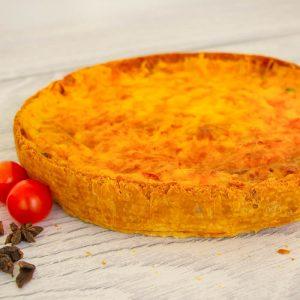 Киш-пирог с лососем и брокколи